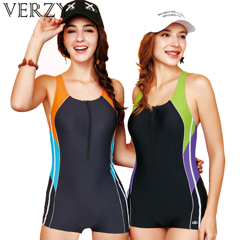 One Piece Swimsuit Sport Swimwear Women 2018 New Swimming Bodysuit U-neck Patchwork Beach Wear Female Bathing Suit Swim MonokiniOne Piece Swimsuit Sport Swimwear Women 2018 New Swimming Bodysuit U-neck Patchwork Beach Wear Female Bathing Suit Swim Monokini