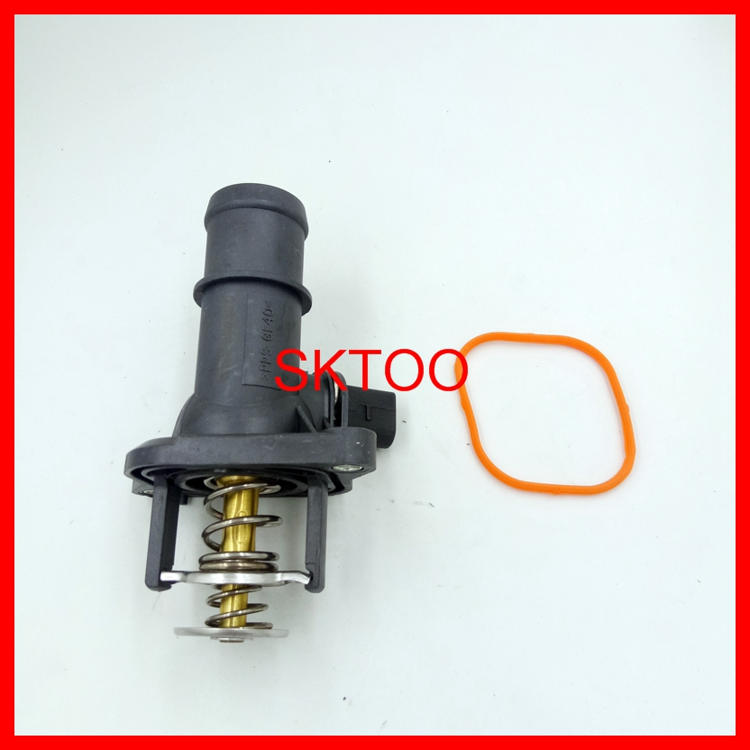 06A12114 06A 121 114 For Audi A3 Seat Leon Skoda VW Bora Polo Golf Mk4 1 6 1997 2005 Thermostat Housing With Sensor in Thermostats Parts from Automobiles Motorcycles
