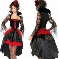 High Quality Style Cosplay Halloween Party Dress Devil Sexy Uniform Carnival Queen Suits Sexy Vampire Witch Costume Women