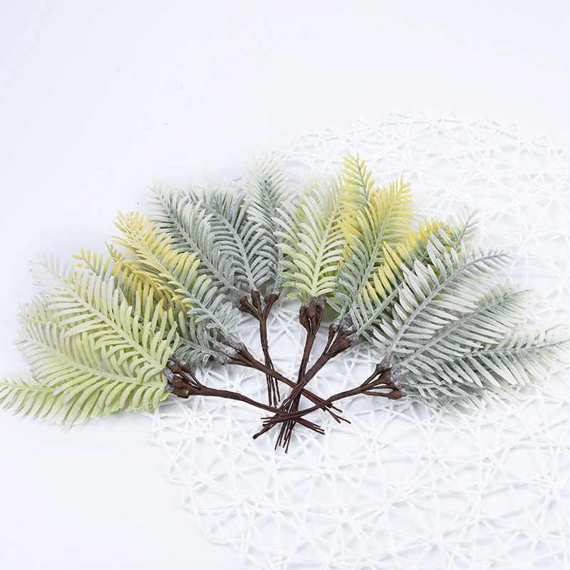6 Pcs Buatan Plastik Rumput Air Natal Bunga Karangan Bunga untuk Dekorasi Rumah Pesta Pernikahan Tanaman Palsu Kotak Hadiah Diy Scrapbooking