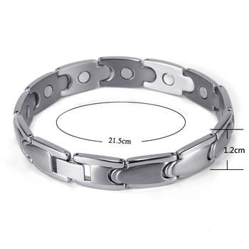 Health Care Magnetic Titanium Bracelets & Bangles for Men 2
