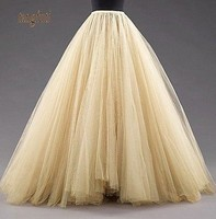 High Quality Tulle Petticoats Skirts Floor Length Mulitilayer Party Dress Free Size 2016 Fashion Formal Wedding