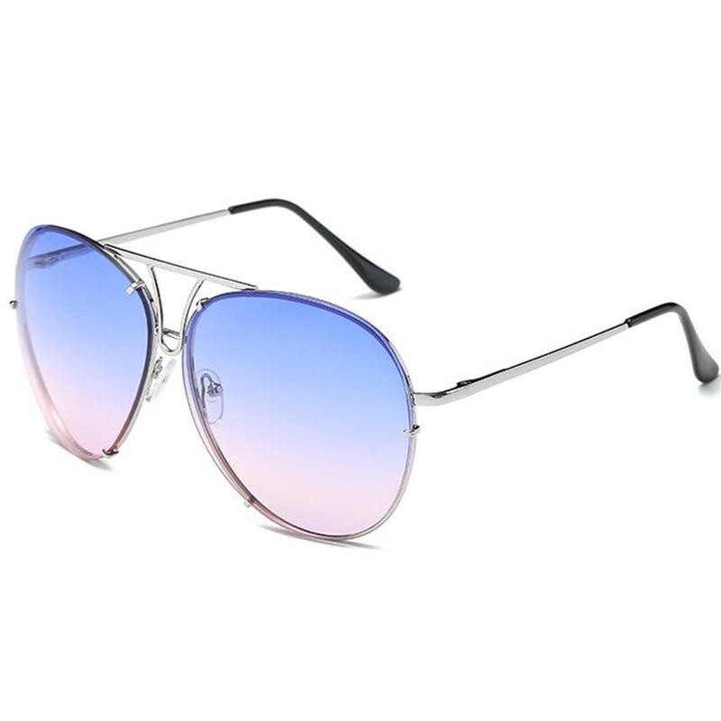c1e4415ce5bbe ZEXI Oversized Clear Aviator Sunglasses Men Sun Protection Big Frame  Transparent Glasses Mirror Reflective Glasses NS0047-in Sunglasses from  Apparel ...