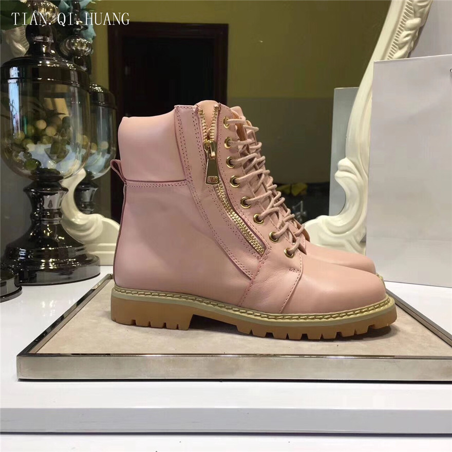 2018 New Style Classic Fashion Design Woman Ankle Boots Genuine Leather Women Winter Boots Shoes High