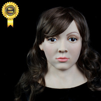 SF 8 Rubber Latex Party Crossdress Halloween Female Silicon Mask Full Head Mask Fixed With