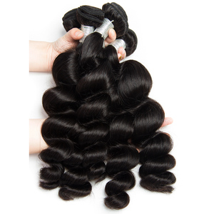 Image 3 - Alibele Peruvian Loose Wave 3 Bundles With Frontal Closure Remy Human Hair Weave Extension Pre Plucked Frontal With Bundle