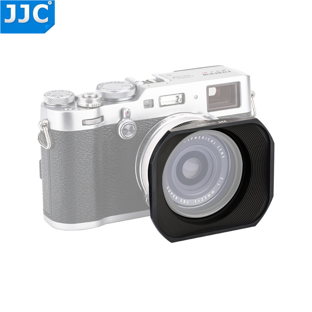 JJC Metal Square Lens Hood Adapter Ring kit with 49mm Filter Thread for Fujifilm X70 X100