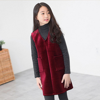 2018  Girls' Promotion New Fashion Girls Full Solid Cotton Shirt Collar Semi Sleeved T-shirt Autumn Big Boy All-match Coat