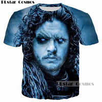 PLstar Cosmos Design Game Of Thrones Jon Snow Becomes The White Walkers Ghost 3D Printed Men