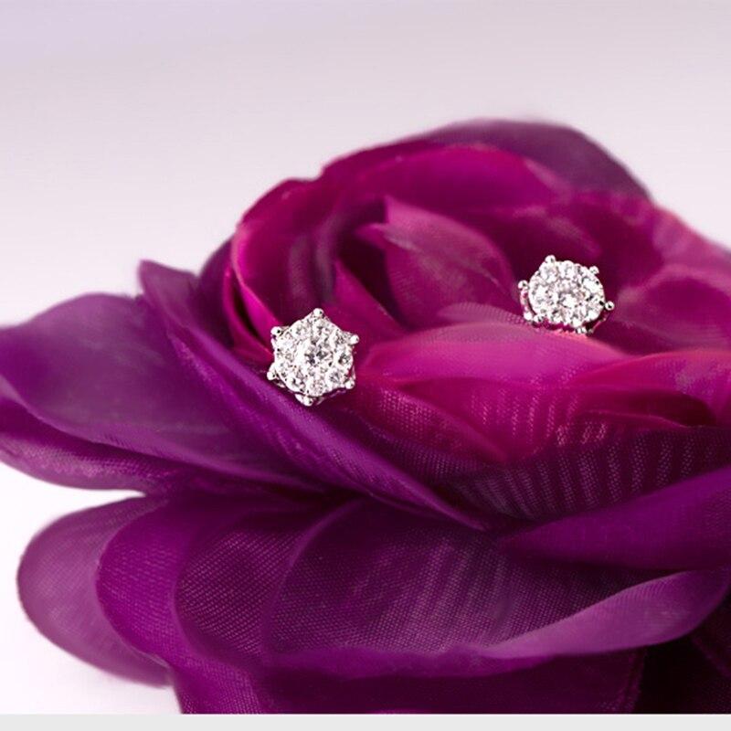 1CT бриллиантовый эффект GVBORI 18k золотые серьги для женщин хорошее ювелирное изделие бриллиантовые серьги дизайн короны