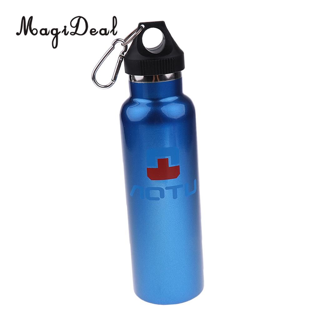 MagiDeal Stainless Steel Outdoor Sports Camping Bicycle Climbing Running Cycling Water Bottle Purple
