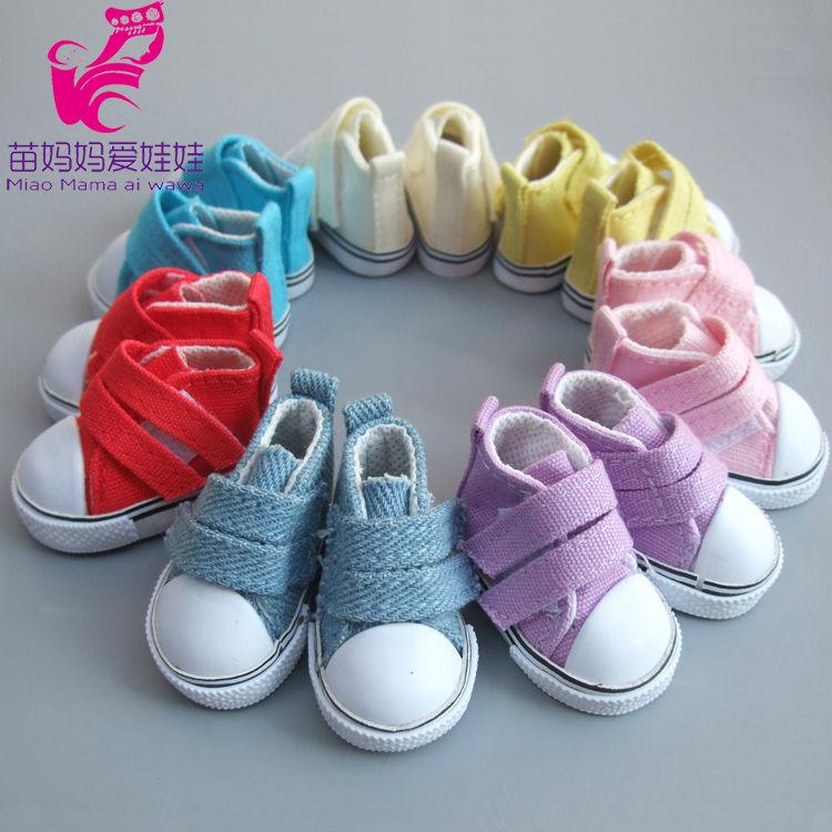 5cm Doll Shoes Denim Sneakers For BJD Dolls,Fashion Denim Canvas Mini Toy Shoes 1/6 Bjd For Handmade Doll