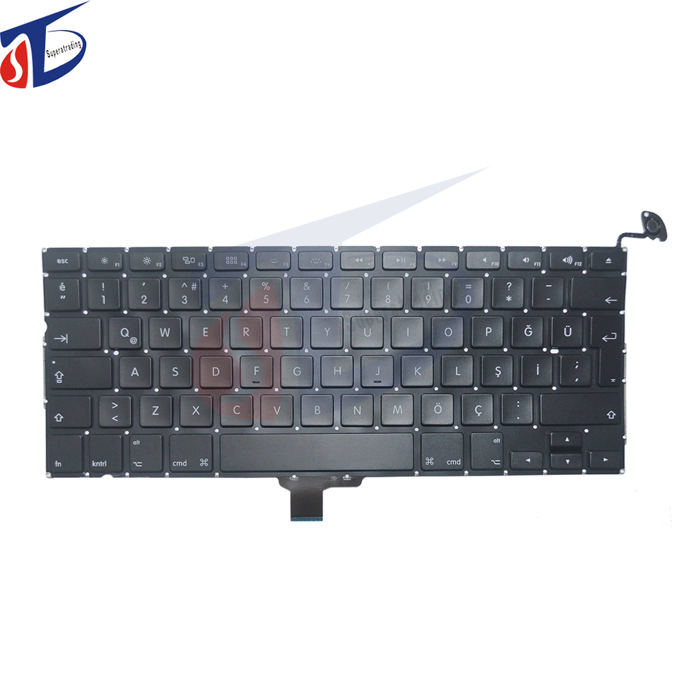 10PCS lot A1278 keyboard Turkish Turkey for font b macbook b font pro 13 3inch Turkey