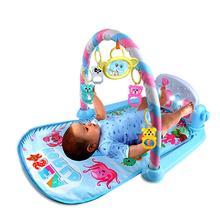 Детская педаль фортепиано тела строительный инструмент-для новорожденных музыкальная игра Одеяло игрушка колокольчик-Детские фитнес-игра Pad
