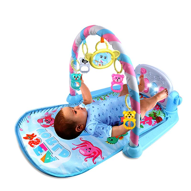 Baby Pedal Piano Body Building Instrument - For Newborn Baby Music Game Blanket Toy Ringing Bell - Baby Fitness Game Pad
