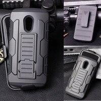 Dla motorola moto g2 case, przyszłość armor wpływ twarda oprawa case do motorola moto g2 2014 2nd gen g2 xt1068 xt1069 + flim
