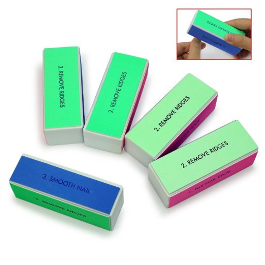 ФОТО 50pcs Nail Art Shiner Buffer 4 Ways Polish Sanding File Block Manicure Product