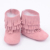 Nuevo 100% suede botas de Bebé Del Niño Del Cuero Genuino Mocasines Tres borla capa suave Del Bebé Primeros Caminante Infantil Zapatos botas niñas