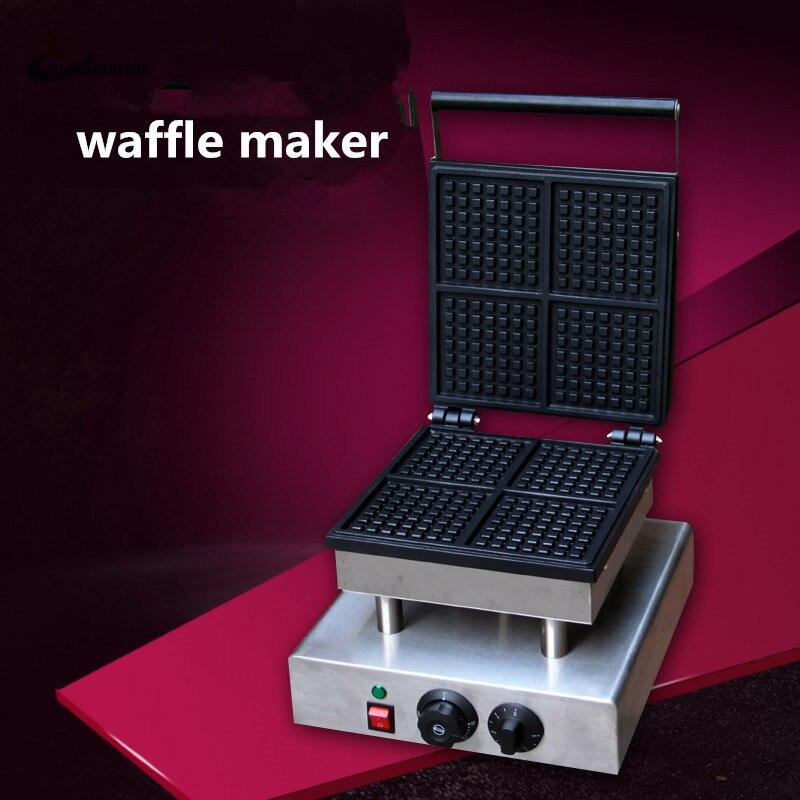 YJHUMIDIFIER 110V/220V Four Squares Waffle Maker Electric Waffle Maker Square waffle Machine luxberry squares