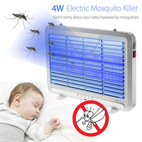 AC220V LED Mosquito Killer Lamp 4W Energy Saving Anti Mosquito Lamp Electric Shock Repellent LED Light Insect Killer
