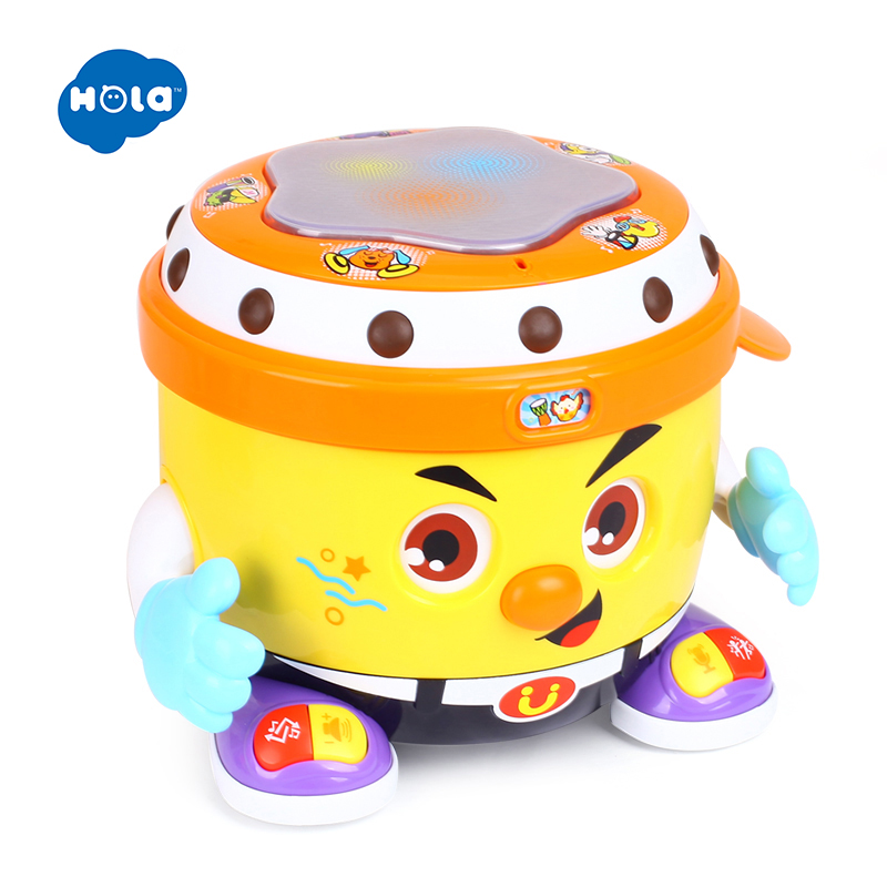 HOLA 6107 bébé jouet DJ fête tambour jouet avec musique et lumière apprentissage jouets éducatifs pour les enfants - 4