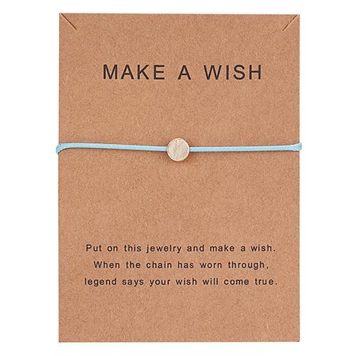 Регулируемый браслет с бумажными карточками в форме бабочки, звезды, короны, Круглый тканый браслет ручной работы, Простые Модные женские ювелирные изделия, подарки - Окраска металла: 19