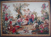 Gobelin Picture Tapestry Wall Hanging Pure Handmade Wool Palace French Gobelins Weave Tapestry Wide (213cm) 5.1'x 7.1' Gc3tap18