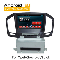 Android 8.1 GPS navigation For Opel/Chevrolet/Buick Dashboard central multimedia System 2 Din Car Stereo 1080*600 auto radio