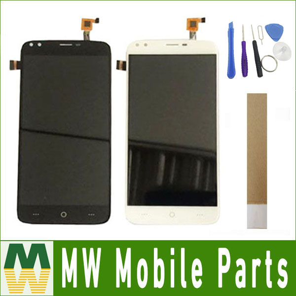 1PC/Lot 5.5inch For Doogee X30 LCD Display+Touch Screen Digitizer Assembly Replacement Black White Color With t