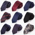20 Estilos Para Hombre de Corea Del Lazo Flaco Floral Punto Rojo Azul Marino Ocasional delgado Gravata Corbata para Los Hombres 2017 Del Diseñador de Moda Delgado Corbatas Cravate
