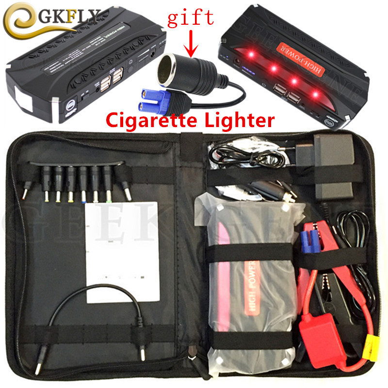 Super Power Car Jump Starter 4USB Power Bank 12V 600A Portable Starting Device Petrol Diesel Car