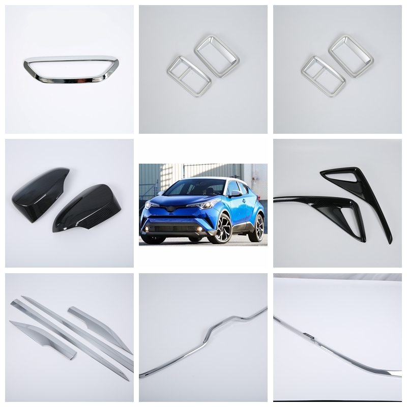 ABS Exterior door handle cover Decoration Strip Cover Trim  Car Styling For TOYOTA CH-R 2018