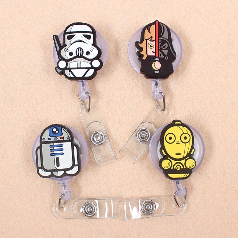 Cartoon 60cm Silicone Cute Star Wars Retractable Badge Reel Student Nurse Doctor Exhibition Enfermera Name Card ID Card Chest