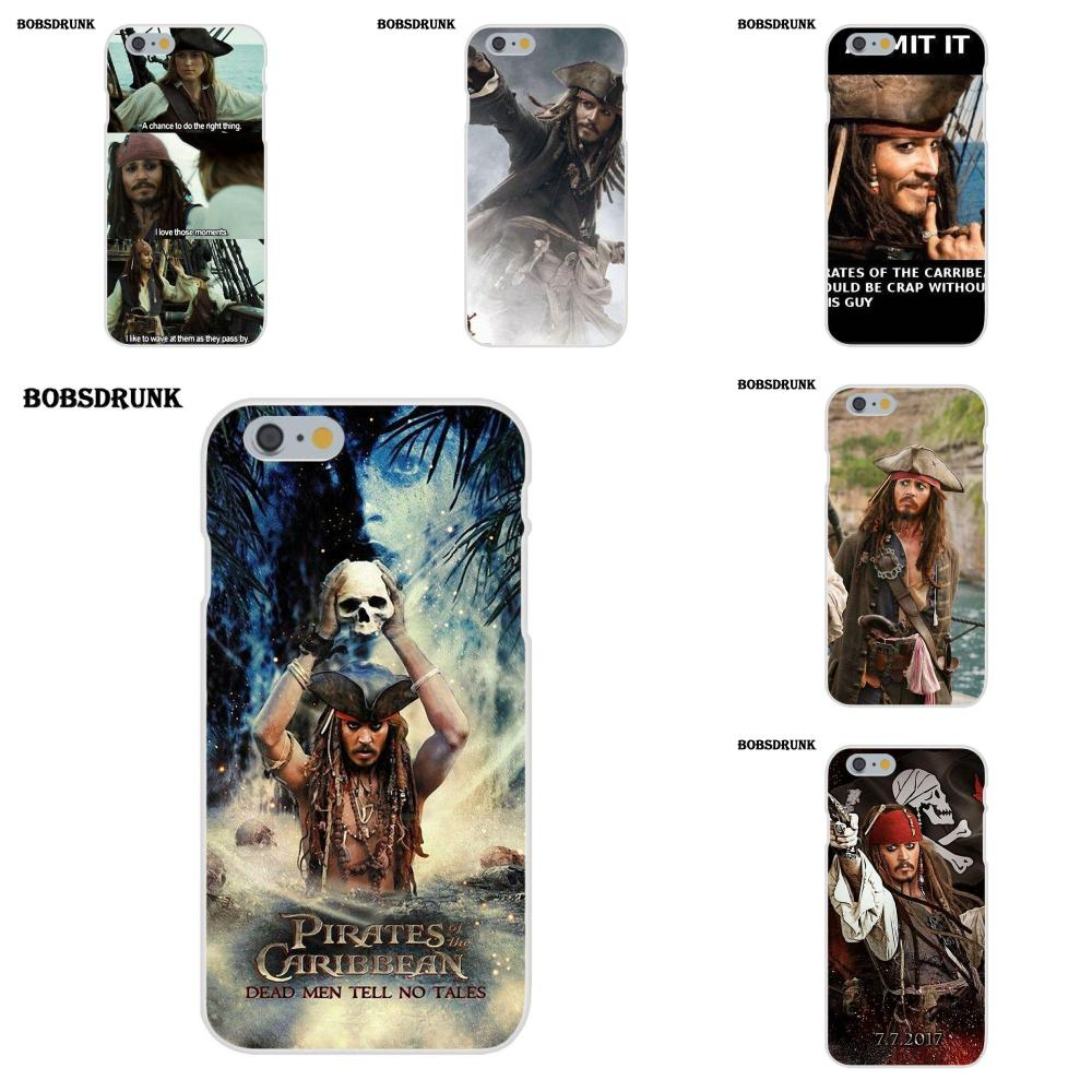 EJGROUP Pirates Of Caribbean Jack TPU Cell Bags For Apple iPhone X 8 7 6S 6 SE 5C 5S 5 4S 4 Plus