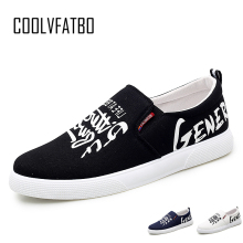 COOLVFATBO Men Vulcanize Shoes Fashion New Men Shoes Slip-on