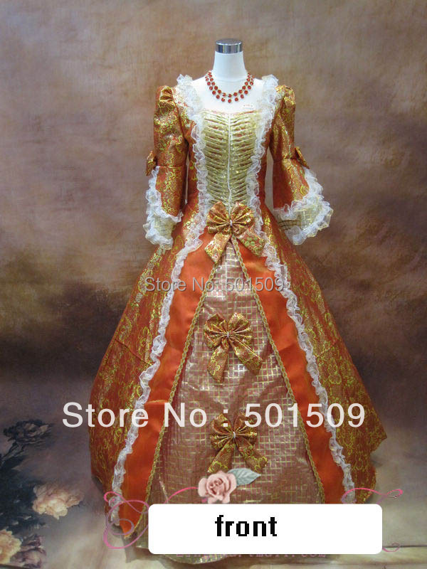 free ship red/green/ embroidery long medieval dress Renaissance Gown queen Dress  Victorian Gothic/Marie Antoinette Belle Ball
