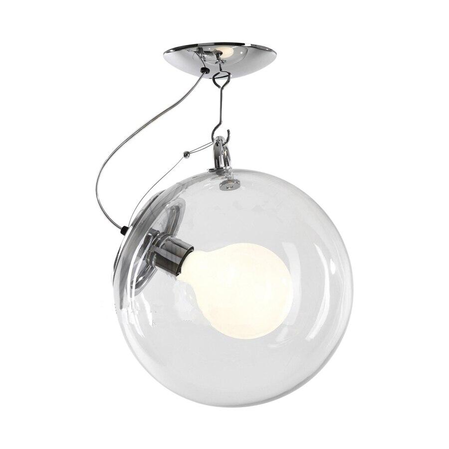 ᗑ】Libera trasparente Paralume In Metallo Sfera di Vetro Globe ...