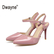 Big Size Women's Sandals 9cm High Heels Pumps RR Shoes For Women PU and Patent Leather Wedding Shoes chaussure femme 165-48