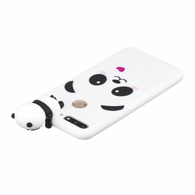 3D панда чехол для телефона из мягкого силикона ТПУ с рисунком чехол для huawei Y5 Y6 Y7 Prime 2018 Honor фотоаппаратов моментальной печати 7S 8 9 10 Lite 7A 7C Pro 8A 8X Nova 3i P Smart 2019 чехол