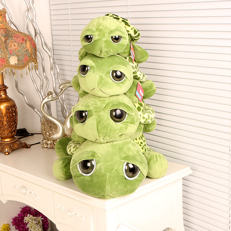 <font><b>20</b></font>-55cm kawaii Green Big Eyes Turtle Plush Toy Room decoration Turtle Doll Kids As Children's <font><b>day</b></font> Birthday Christmas Gift image