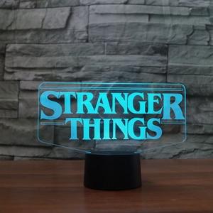 Image 5 - 7 Colors Changing 3D Acrylic Led Luminous Stranger Shape Table Lamp Office Home Decor Child Movie Bedside Sleep Night Light Gift