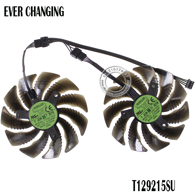 88MM T129215SU PLD09210S12HH Cooling Fan For <font><b>Gigabyte</b></font> GeForce <font><b>GTX</b></font> <font><b>1050</b></font> <font><b>Ti</b></font> RX 480 470 <font><b>GTX</b></font> 1060 G1 Graphics Card Cooler Fans image