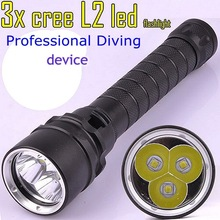 2016 NEW 3 CREE XML l2 diving font b flashlight b font waterproof torch Underwater Diving