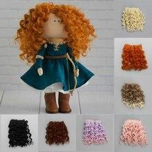 15*100cm wysokiej jakości śruby doczepy z kręconych włosów dla wszystkich lalek DIY do włosów peruki włókno termoodporne doczepiane włosy akcesoria zabawki
