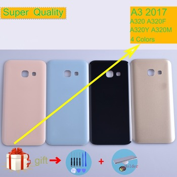 Original For Samsung Galaxy A3 2017 A320 A320F A320Y Housing Battery Cover Back Cover Case Rear Door Chassis A3 2017 Shell image