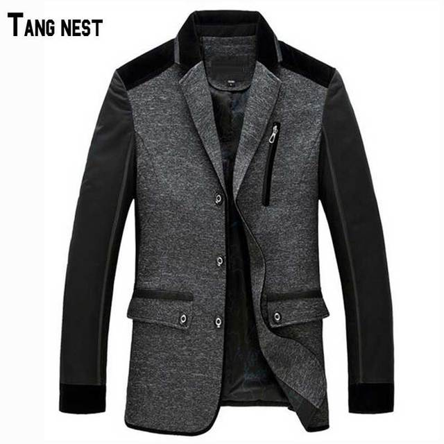 2017 New Arrival Men's Fashion Winter Single Breasted Blazer Suit Male Slim Fit New Collar Design Suit MWX125