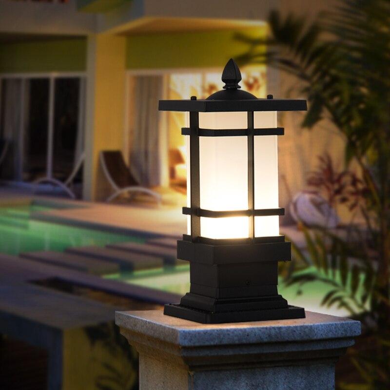 Chinese column headlight outdoor waterproof lamp garden villa lawn landscape
