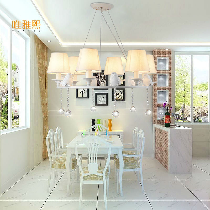 Nordic Birds Chandelier Lighting For Living Room Hall Deco Suspension Luminaire Hanging Lamps Hotel Lighting Fixtures