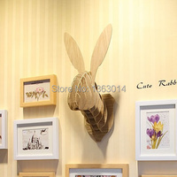 Cute Bunny holz tier kopf MDF holz wand-dekor selbst bauen puzzle