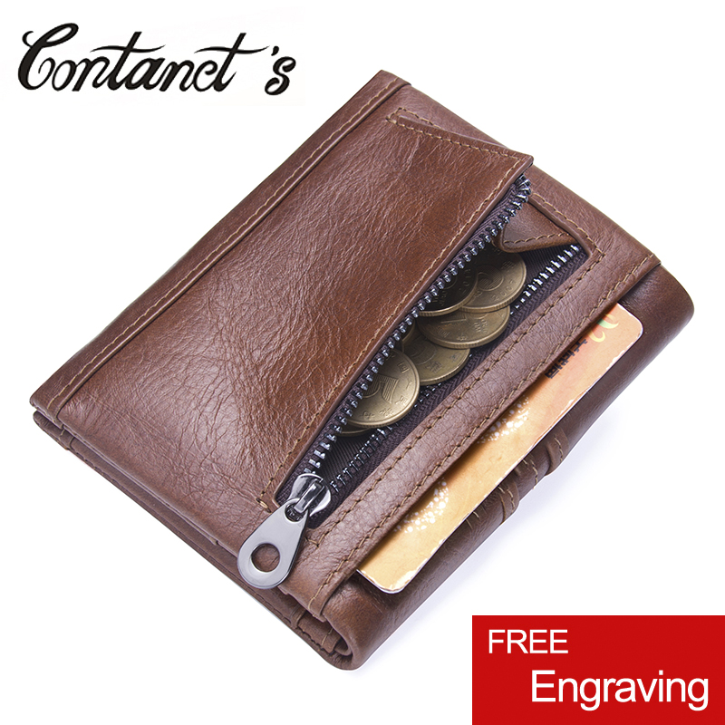 New Casual Small Men Wallets Genuine Leather Men's Wallet Brand Designer Zipper Coin Purse Pockets Short Male Purses Card Holder vintage genuine leather wallet men fashion small brand wallet male portable men wallets short coin purse male purses casual